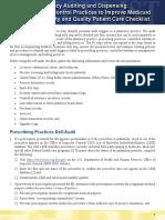 Pharmacy Selfaudit Checklist