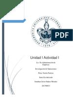 Unidad I Actividad I Investigación de Operaciones Jonathan Suárez.
