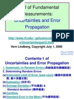 Uncertainties & Error