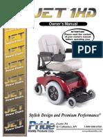 manual de silla de ruedas eléctrica Jet 1