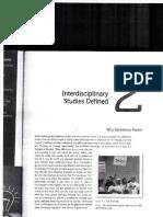 Intro to Interdisciplinary Studies, Ch 2