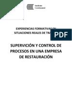 SUPERVISOR Y CONTROL DE PROCESOS EN RESTAURANTES