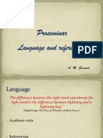 Proseminarium Language and Referencing