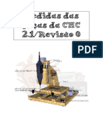 Medidas Da Peças CNC2.1 - Revisão 0 - Canal Youtube Marlon Nardi