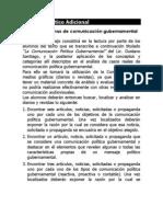 TP Adicional Comunicación Gubernamental