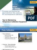 Tips de mantenimiento de instrumentos para calibración temperatura