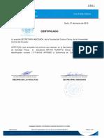 Certificado Cultura Fisica