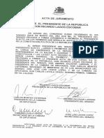 Acta Juramento - Ricardo Lagos Escobar