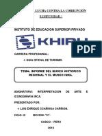 Informe Del Museo Historico Regional y Museo Inca
