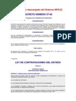 Ley de Contrataciones 57 92