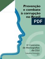 6 Concurso Monografias 2011 Combate Corrupção