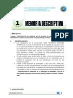 1. Memoria Descriptiva Canal Casa Blanca
