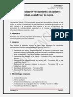 Informe de Evaluación y Seguimiento a Las Acciones Preventivas