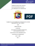 Cosumbres Matrimoniales en Puno. Jimenez Choquecota Edgar Luis Encinas Ticona Abad