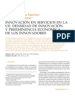 Innovacion en Servicios de La UE