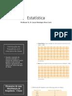 Estatística Classes, Frequência e Médias