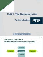 Unit 01 - The Business Letter