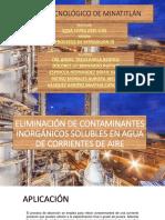 Aplicacion de Contaminantes Inorganicos Solubles en Agua