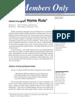 Municipal Home Rule