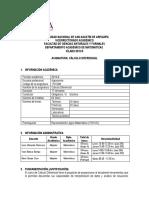 Sílabo Cálculo Diferencial 15 Ago 2019