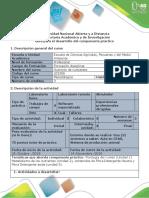 Guía Para El Desarrollo Del Componente Práctico - Realizar Informe de 3 Actividades Practicas en Zona