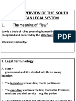 Introduction to South African Law