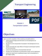CIV3703 - 1 Transportation Systems