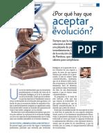 Por qué aceptar la evolución?