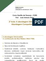 Aula Prof Pinho - Estruturalismo - Comportamentalismo