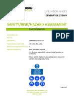 170kVA Generator Risk Assessment