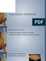 Gen. Chem Colligative Properties
