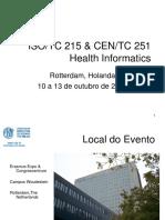 ISO/TC 215 & CEN/TC 251  Health Informatics