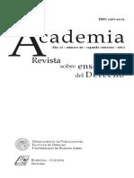 Academia, Revista Sobre La Enseñanza Del Derecho. Número 26 , 2015