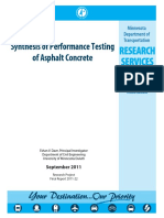 Synthesis of Performance Testing of Asphalt Concrete