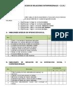 Cuestionario de Evaluacion de Relaciones Interpersonales