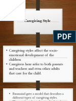 Caregiving style and its effects to pre schooler