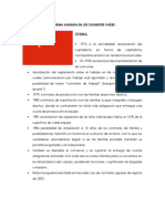 1.Diferencia de La Reforma Agraria en Los Siguientes Países