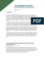 Forun- Prpuesta de Solucion Del Agua Potable y Saneamiento