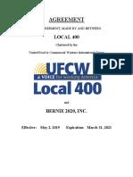 Bernie 2020 Collective Bargaining Agreement (2019-2021) (1)