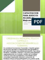Presentacion Ordenanza Municipal Mejicanos