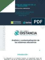 Análisis y contextualización de los sistemas educativos