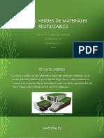 Techos Verdes de Materiales Reutilizables