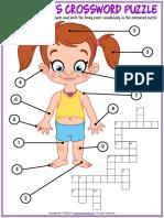 body parts vocabulary esl crossword puzzle worksheet for kids.pdf