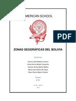 Zonas Geográficas Del Bolivia