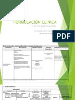 Ejemplo de una formulacion clinica