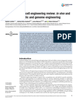 Genome-driven Cell Engineering Review- In Vivo and in Silico Metabolic and Genome Engineering