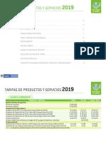 Tarifario Bac 2019