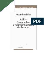Friedrich Schiller - Sobre la educación estética del hombre