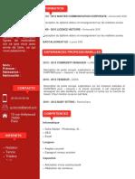 Modèle CV Étudiant Rouge Et Rouge Foncé