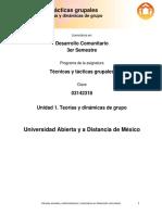 Unidad 1 Teorias y Dinamicas de Grupo